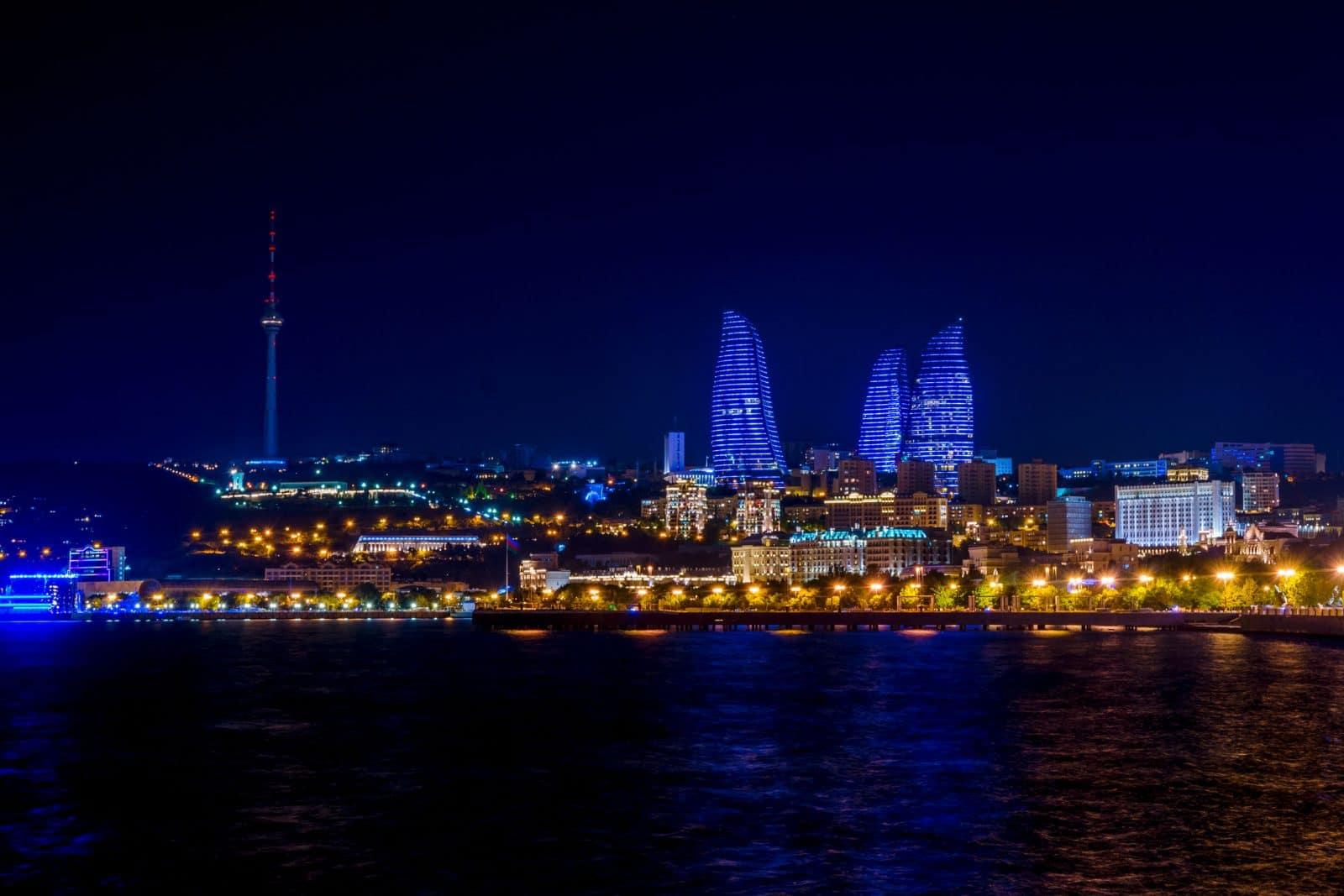 Baku downtown no Azerbaijao