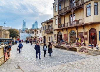 Cidade Antiga Baku Azerbaijao
